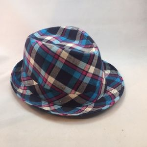 New Nollia Cute Plaid Fidora Hat P153
